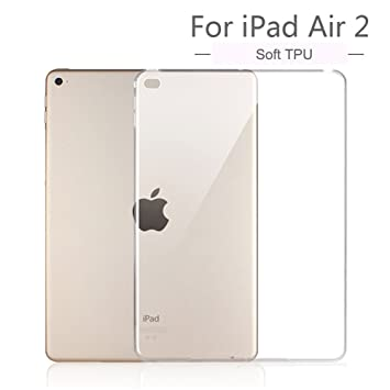 iPad Air II TPU Bumper Case, Ultra-Thin Flexible Silicone Gel Protective Case Cover for 9.7 inch iPad Air 2 - Crystal Clear