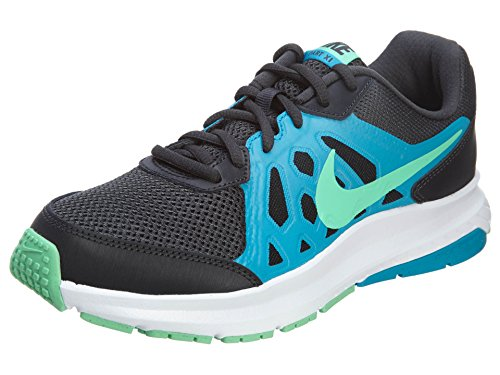 NIKE Mens Dart 11 Running Shoe Anthrct/Grn Glw-bl Lgn-white