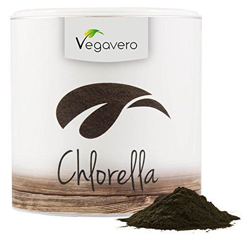 CHLORELLA ALGEN PULVER 200g von Vegavero, 100% BIO, Lebenslange Zufriedenheitsgarantie, verschiedene Vitamine und Mineralien, Süßwasseralge, traditionell zur Entgiftung verwendet, 200g