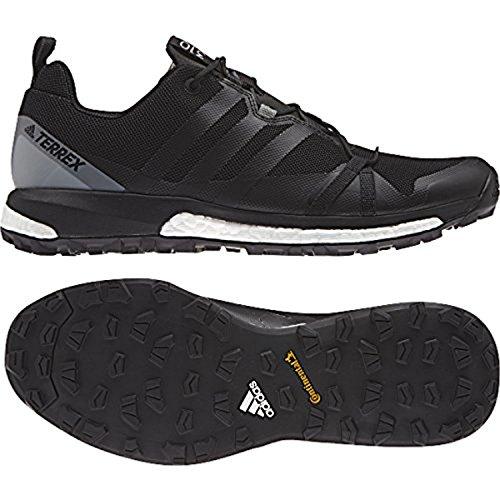 Adidas Heren Terrex Agravic Schoenen Zwart / Zwart / Vista Grey 10 & Handdoek