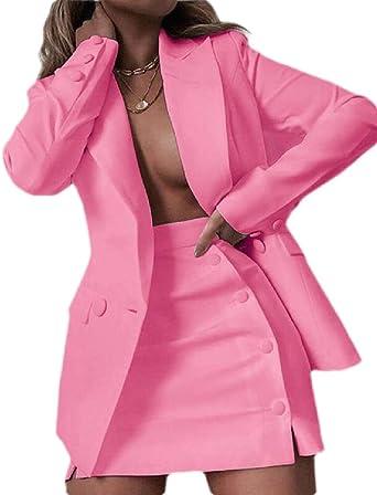 ShuangRun Conjunto de Falda para Mujer Blazer + Mini Faldas 2 ...