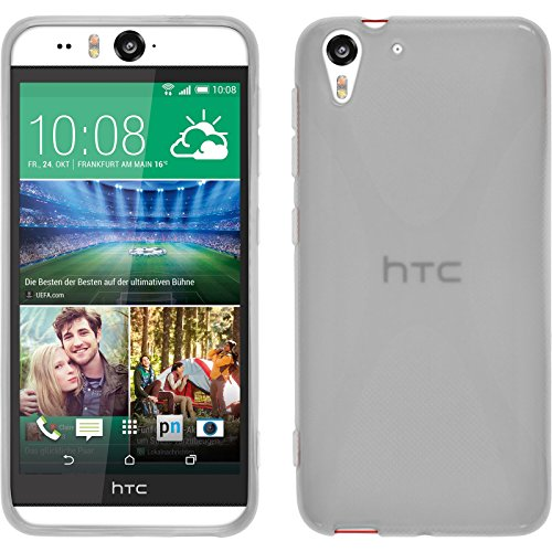 PhoneNatic Silicone Case Compatible with HTC Desire Eye - X-Style Transparent Cover + Protective foils ()