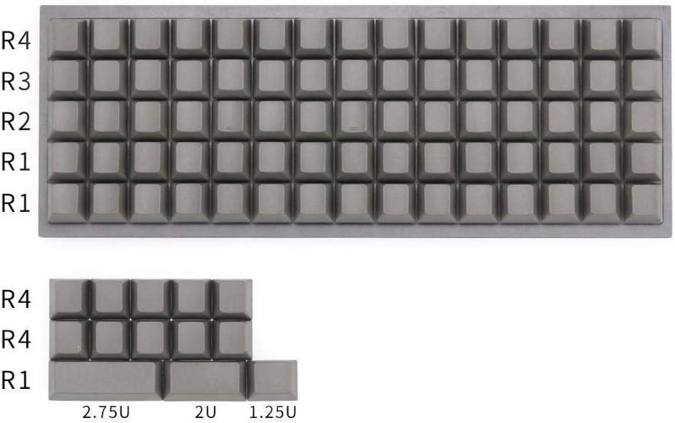 Color : Light Grey Keyboard keycaps Planck Keycaps Blank Cherry Profile Keys for Mechanical Keyboard