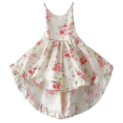 Kids Dress Girls Floral Dress Girls Floral Dresses 7-16 Casual Maxi Dress Girls Casual Dresses Little Girls Dress Size 7-8 Wedding Party Pageant Flower Dress Sleeveless (A1Floral,140)]()