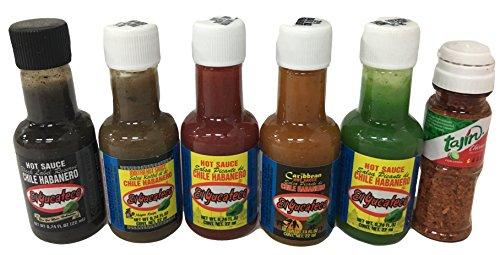Hot Sauce Minis 6 bottles of El Yucateco & tajin Miniatures Stocking Stuffer