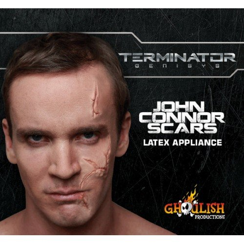 Ghoulish Productions Terminator John Connor Scars Latex Appliance Halloween Prosthetic Make-up ()