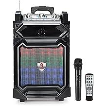 Vangoa - Rechargeable Wireless Bluetooth Speakers Sound XBS Bass System, Recording Ability, MP3/USB/TF/FM Radio/ Karaoke Function