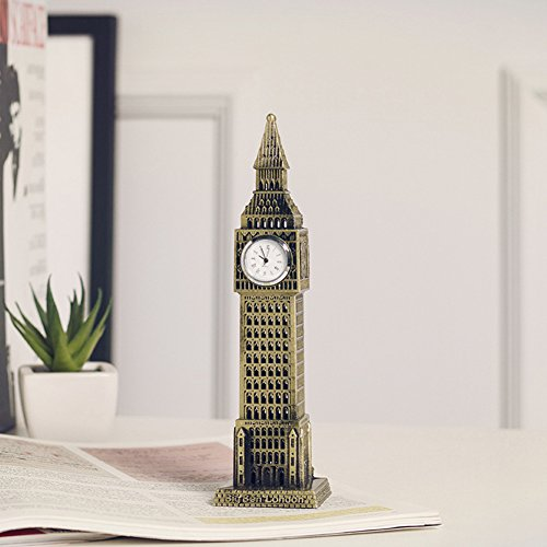 British Clock (Continental Retro British Big Ben Creative Home Furnishing Metal Ornament London Big Ben Handicrafts)