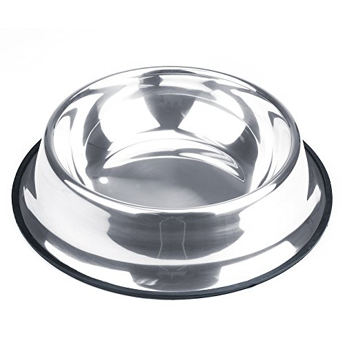 Weebo Pets Stainless Steel No-Tip Food Bowls - Choose Your Size, 4-ounce to 72-ounce (72oz. ()