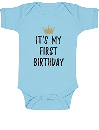 Baby Boys Girls 1st Birthday Gifts One Year Old Crown Bodysuit Amazoncouk Clothing