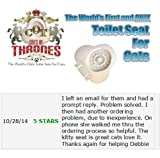C.O.T. Cats of Thrones Toilet Seat for Cats Starter Kit