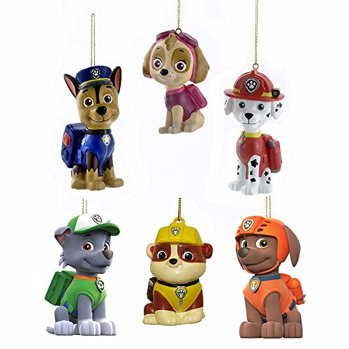 Kurt Adler Paw Patrol Blow Mold Ornament Complete Set of 6