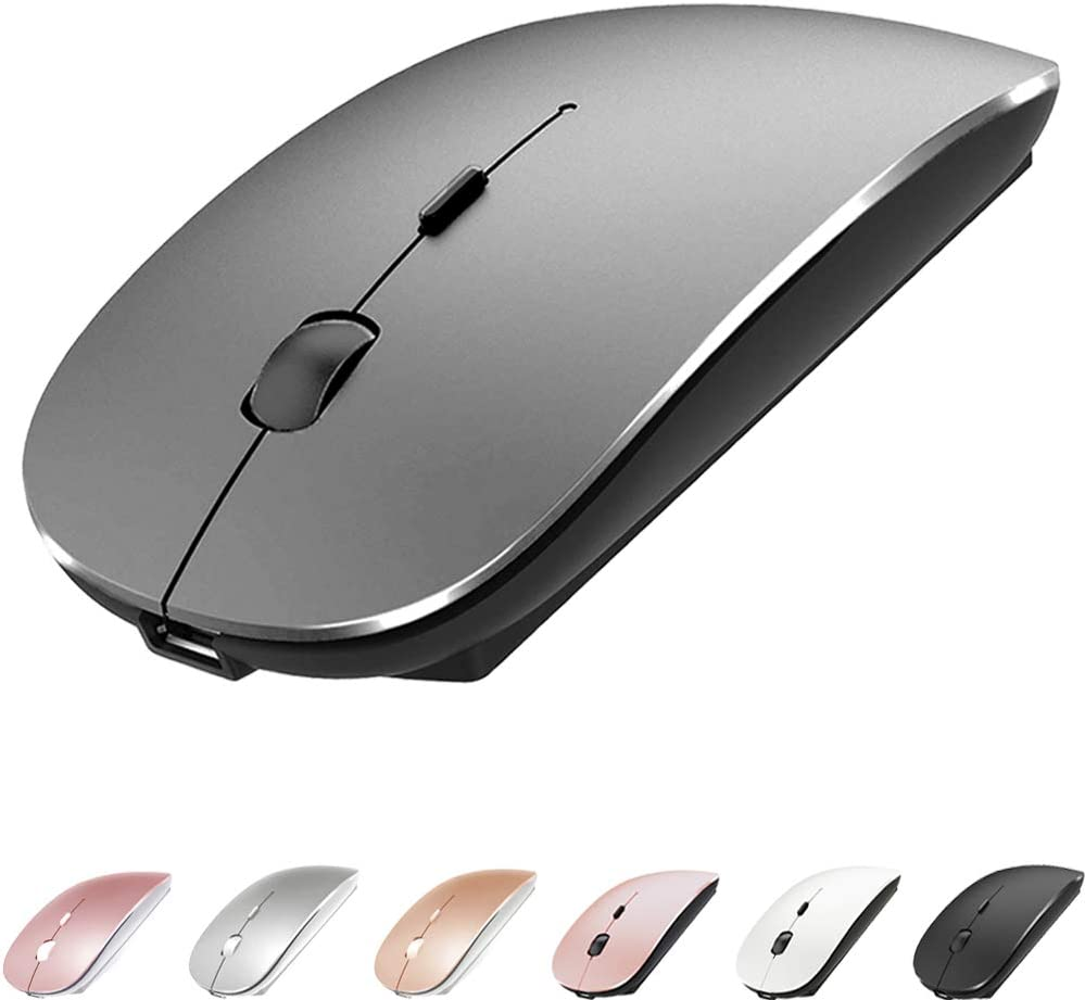 Bluetooth Mouse for MacBook pro/MacBook air/Laptop/iMac/ipad, Wireless Mouse for MacBook pro MacBook Air/iMac/Laptop/Notebook/pc(Bluetooth Mouse/Grey)