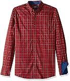 IZOD Men's Big Slim Fit Heritage Long Sleeve Button Down Tartan Shirt, Real red, 3X-Large Tall
