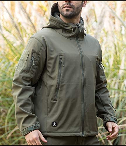Vhkhfwd Men's Tactical V5 De Winter Requin Jacket Green Snake Fleece Uniform Shell Peau Soft 4rRA4w