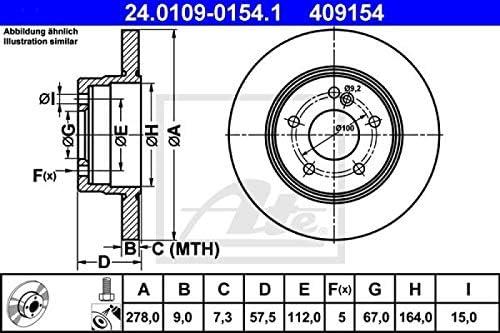 ATE Bremsbel/äge Bremskl/ötze Bremsenset Bremsenkit Komplettset Hinterachse Original ATE Bremsscheiben hinten