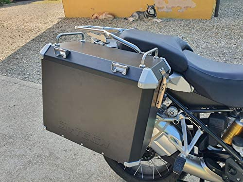 Mytech Seitenkoffer Motorradkoffer Aus Hochfestem Aluminium 47l 41l Für Originalen Träger R1200 Gs Adventure Lc R1250 Gs Adventure F850 Gs Adventure Schwarz Auto