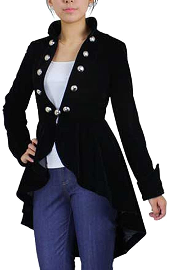 Steampunk Jacket | Steampunk Coat, Overcoat, Cape Steampunk Asymmetry Jacket $89.99 AT vintagedancer.com