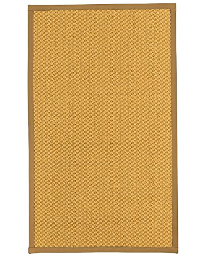 (NaturalAreaRugs Vienna Sisal Area Rug, Handmade in USA, 100 Percent Natural Sisal, Non-Slip Latex Backing, Durable, 8 10' Khaki Border)