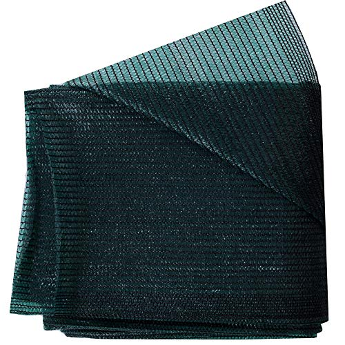 Harvest 70% Green Sunblock Shade Cloth UV Resistant, Premium Heavy Duty Mesh Tarp, Shade Net Panel for Plant Cover Greenhouse,Plants,Barn,Kennel, Pool, Pergola or Carport (12ft X 20ft) ()