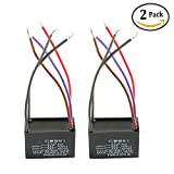 Podoy Ceiling Fan Capacitor CBB61 5 Wire for New Tech 4.5uf+5uf+6uf 250VAC (Pack of 2)