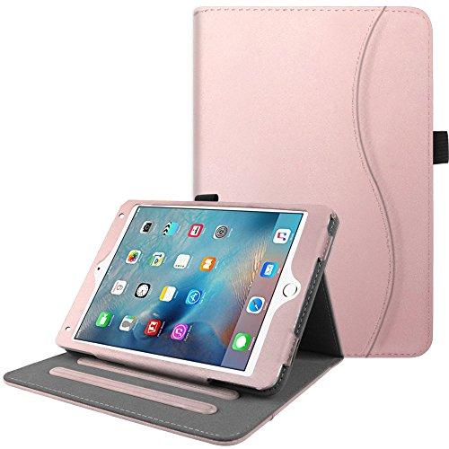 Fintie iPad Mini 4 Case [Corner Protection] - [Multi-Angle Viewing] Folio Smart Stand Protective Cover with Pocket, Supports Auto Wake/Sleep for Apple iPad Mini 4 (2015 Release), Rose Gold