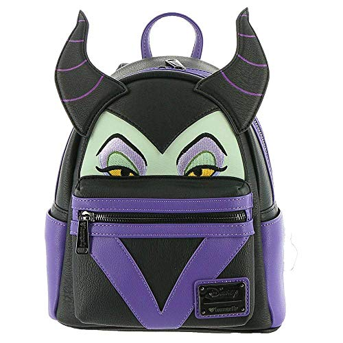(Loungefly Maleficent Faux Leather Mini Backpack Standard)