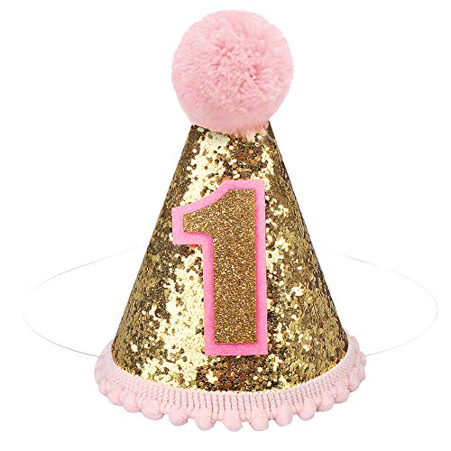 pink birthday cone hats - 6