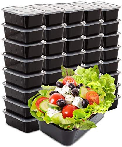 Food Containers Meal Prep Containers – 40 Pack Plastic Food Containers with Lids Food Prep Containers for Meal Prepping…