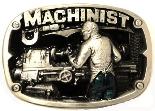 MACHINIST PEWTER BELT BUCKLE