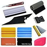 Ehdis® 10 in 1 Car Window Tint Tools Plus Kit for Auto Film Tinting Scraper Application Installation Set Added 4-inch Squeegee and Suede Fabric Felts