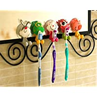 Sungpunet Antibacterial Toothbrush Suction Cup Cover Holder with Suction Cup, Animal
