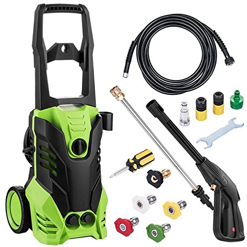 Dtemple 3000PSI 1.7GPM 1800W Electric High Pressure Washer with Hose Reel for Homes, Cars, Driveways (US STOCK) by Dtemple