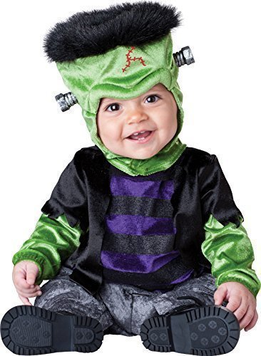 Deluxe Baby Boys Girls Monster Boo Frankenstein Book Day Halloween in Character Fancy Dress Costume Outfit (6-12 Months) Black -