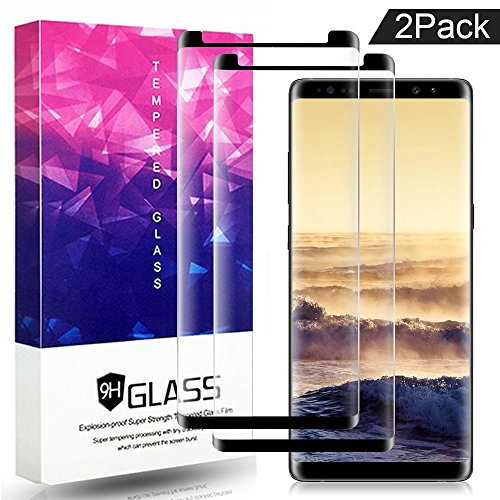 Galaxy Note 8 Screen Protector,ZUOXI Tempered Glass,9H Hardness[Anti-Scratch][Anti-Fingerprint][Bubble Free] for Samsung Galaxy Note 8 (2 Packs)