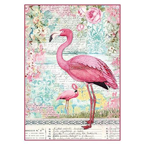 STAMPERIA DFSA4264 A4 Decoupage Reispapier verpackt P/äonie mit roten Beeren Mehrfarbig 29.7 x 21