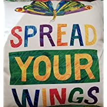 """Eric Carle decorative throw pillow 20""""x20"""" Spread Your Wings"""