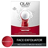 Facial Cleansing Brush by Olay Regenerist, Face Exfoliator with 2 Brush Heads