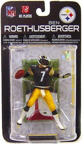 Mcfarlane Toys Nfl 3 Inch Sports Picks Series 7 Mini Action Figure Ben Roethlisberger  Pittsburgh Steelers
