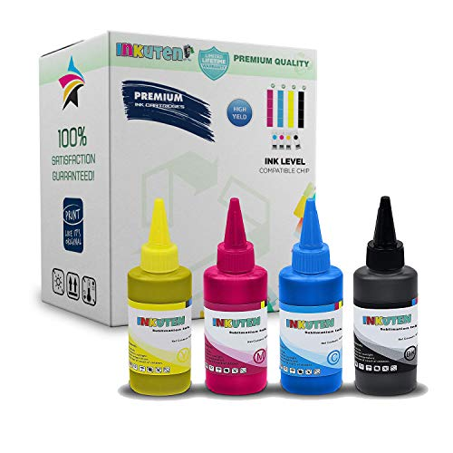 INKUTEN 4x100ml Premium Sublimation ink for Ricoh SG 3110 2100N 3100 3100SNW 3110DNW 3110DN 3110SFNW SG41 Korean-Made