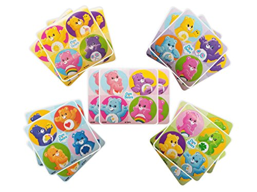 Care Bears Party Favors - 18 sheets 72 Count (Birthday Care)