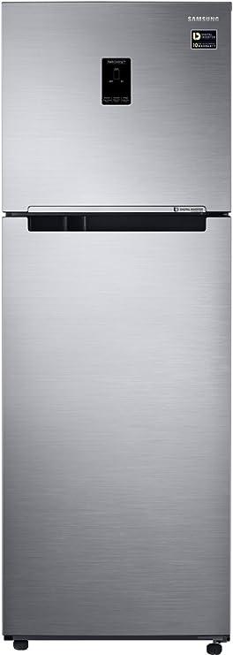 Samsung 345 L 3 Star Frost Free Double Door Refrigerator RT37M5538S8/TL, Elegant Inox, Convertible, Inverter Compressor  Refrigerators
