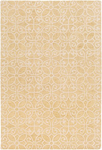 (Tysons Traditional Persian 2' x 3' Rectangle Transitional 100% Wool Wheat/Ivory Area Rug)