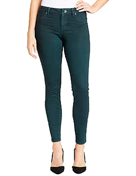 ef5c438047977 Jessica Simpson Ladies' Coated Skinny Jean. Color Green. Size: 4/27