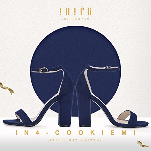 Image of IDIFU Women's IN4 Cookie-HI Open Toe High Chunky Block Heel Pump Sandal