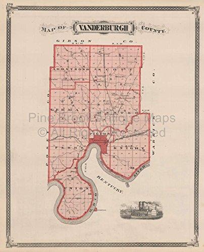 - Vanderburgh County Indiana Vintage Map Baskin 1876 Authentic Indiana Decor History Gift Ideas