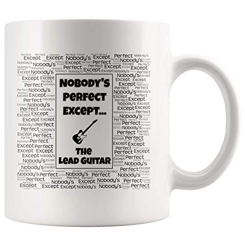 Gift For A Lead Guitarist - Nobody's Perfect Except The Lead Guitar - Mug