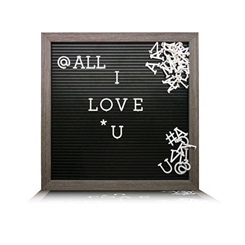 Grey Letters - Plastic Letter Board (12