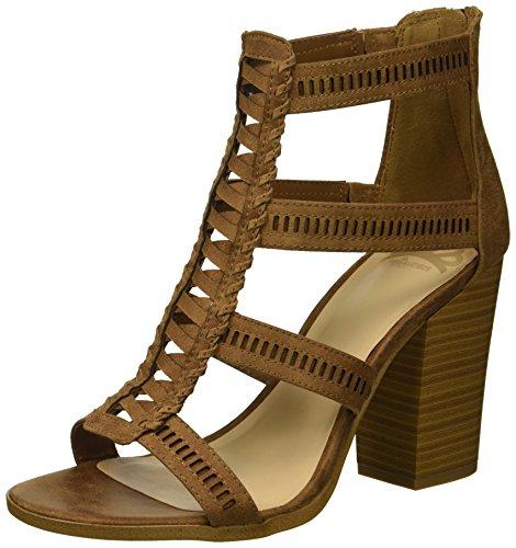 Fergalicious Women's Vellore Heeled Sandal tan 5 M -