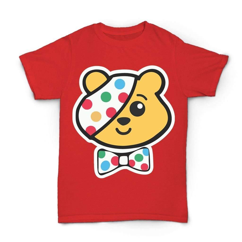 Kids Boys Girls Children in Need Super Hero Pudsey Bear T Shirts UK Size 3-12 Years SMGGD01